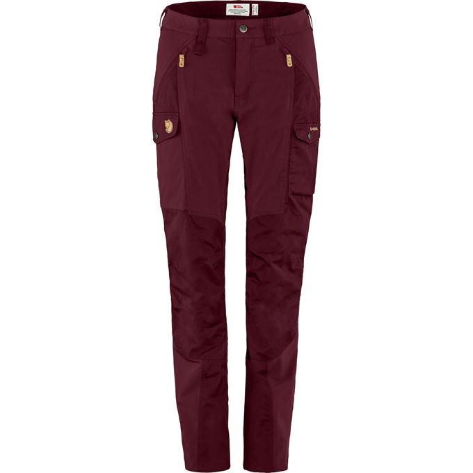 Fjällräven Nikka Trousers Curved W Trekking trousers burgundy, red Women's