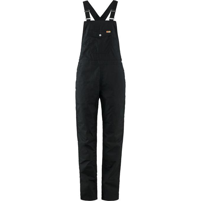 Fjällräven Vardag Dungaree Trousers W Outdoor trousers Black Women's