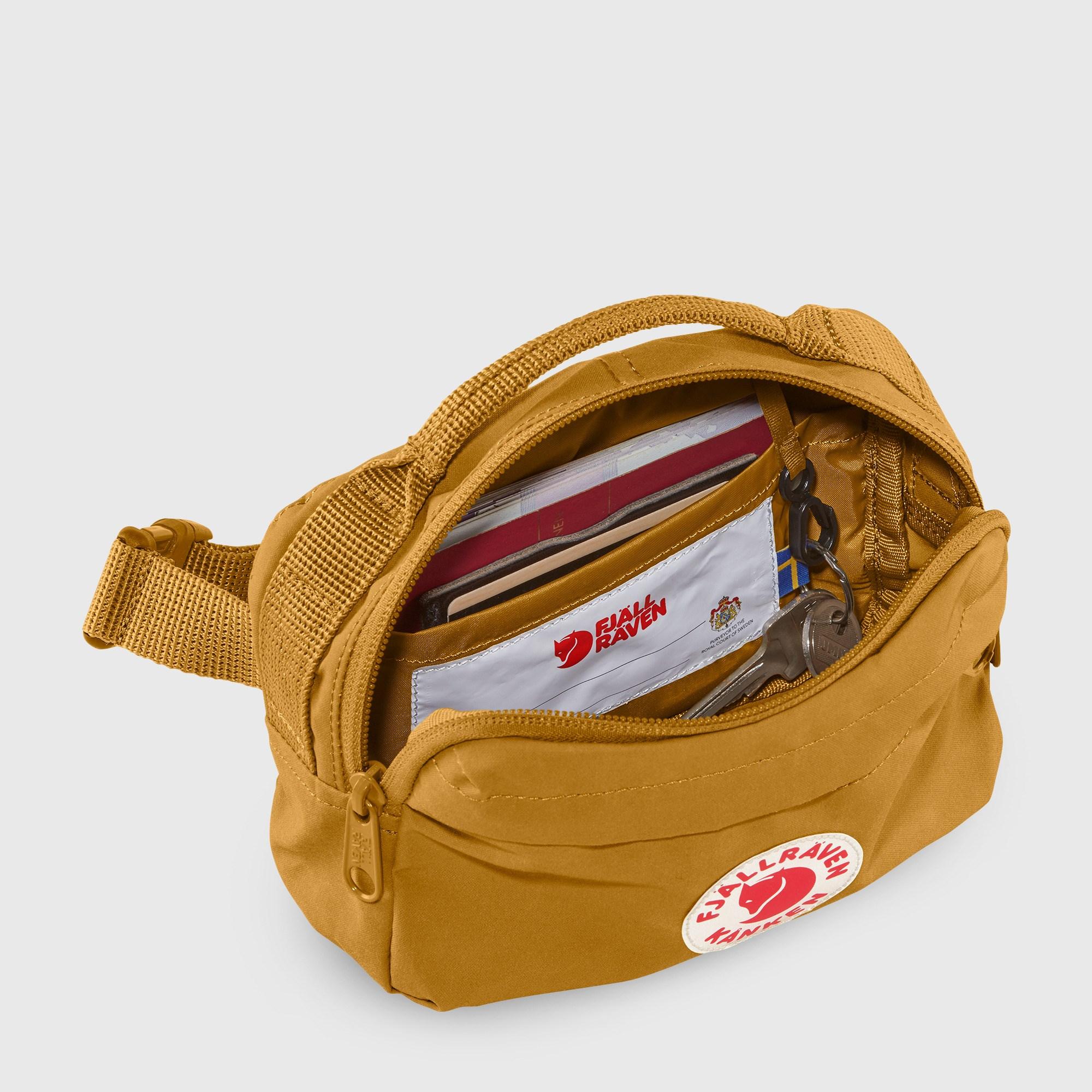 Fjallraven Kanken Hip Pack Ochre Kanken Bags Backpacks