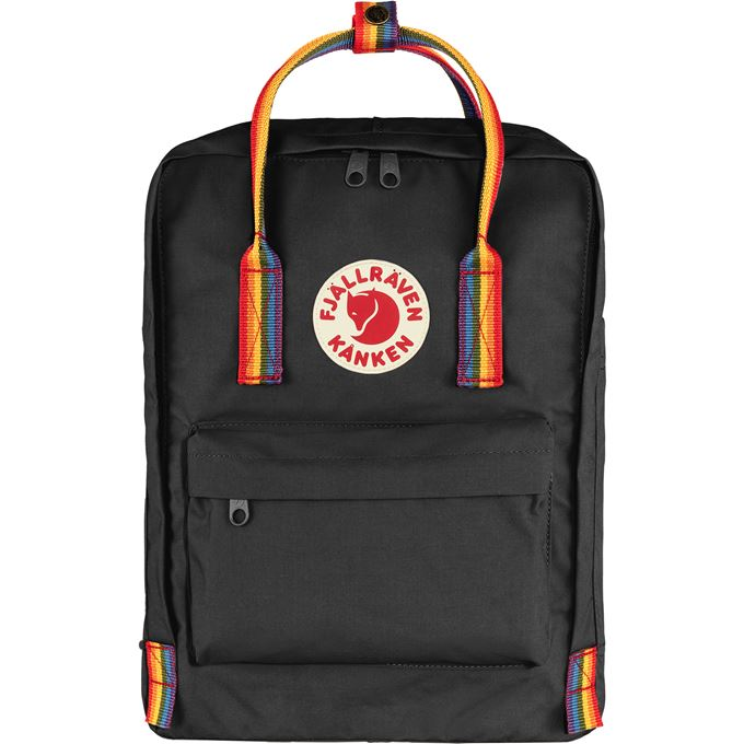Fjällräven Kånken Rainbow Kånken bags Black, Multicolor Unisex