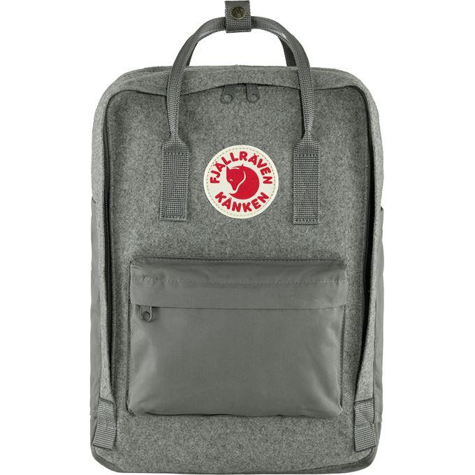 "Fjällräven Kånken Re-Wool Laptop 15"" Laptop bags Grey Unisex"