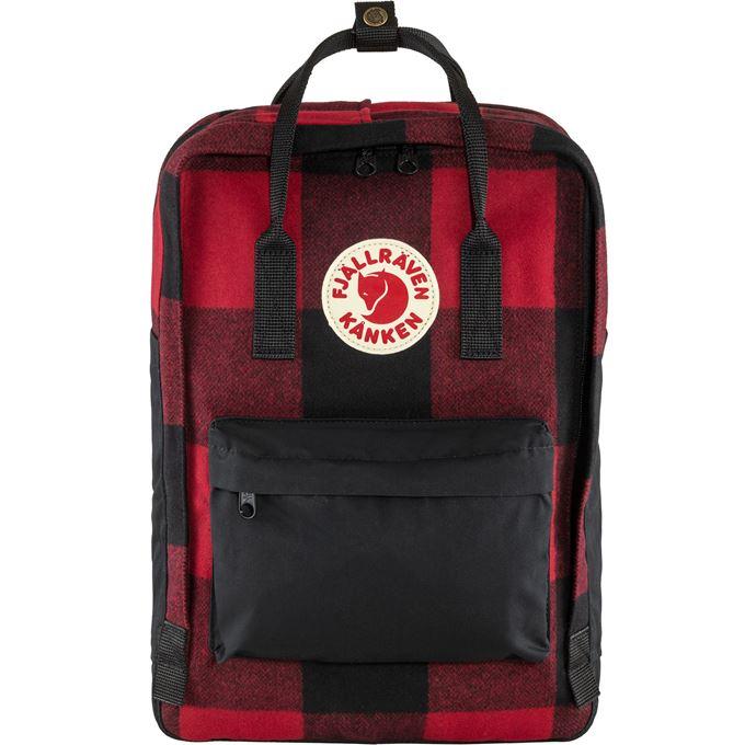 "Fjällräven Kånken Re-Wool Laptop 15"" Laptop bags Black, Red Unisex"