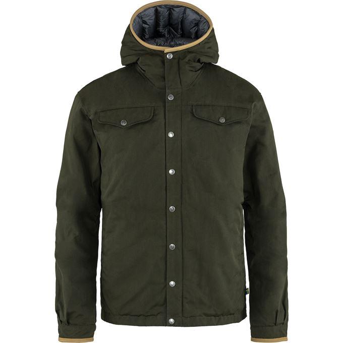 Fjällräven Greenland No. 1 Down Jacket M Down jackets Dark green, Green Men's