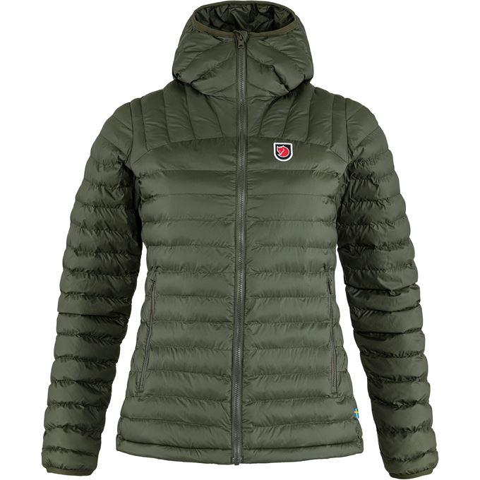 Fjällräven Expedition Lätt Hoodie W Trekking jackets Dark green, Green Women's