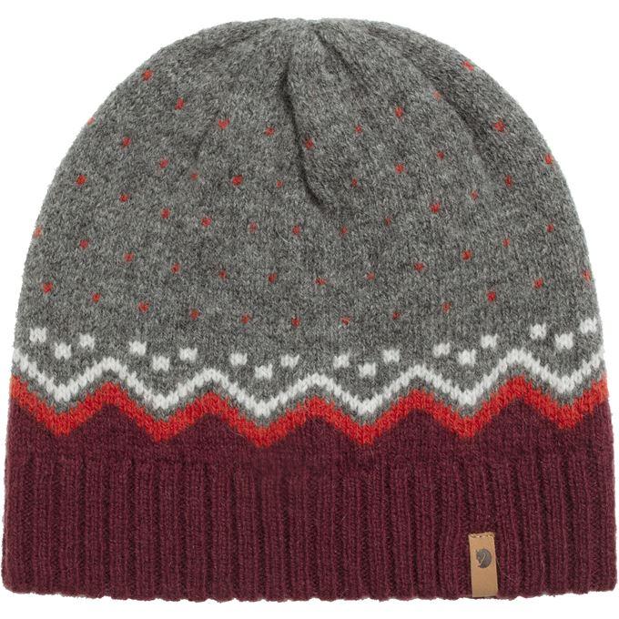 Fjällräven Övik Knit Hat Caps, hats & beanies Grey, Burgundy, Red Unisex