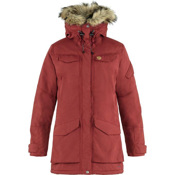 Fjällräven Nuuk Parka W Outdoor jackets Red Women's