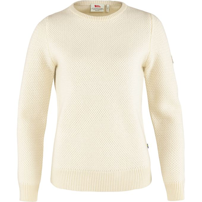 Fjällräven Övik Structure Sweater W Sweaters & knitwear White Women's