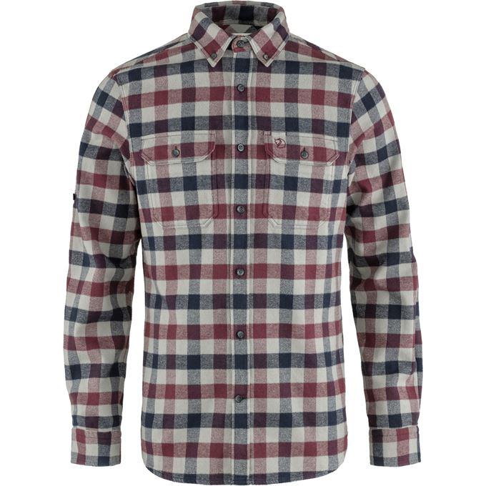 Fjällräven Skog Shirt M Shirts Grey, Burgundy, Red Men's
