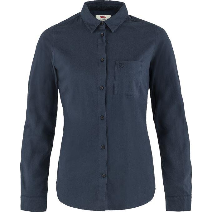 Fjällräven Övik Flannel Shirt W Shirts Blue Women's