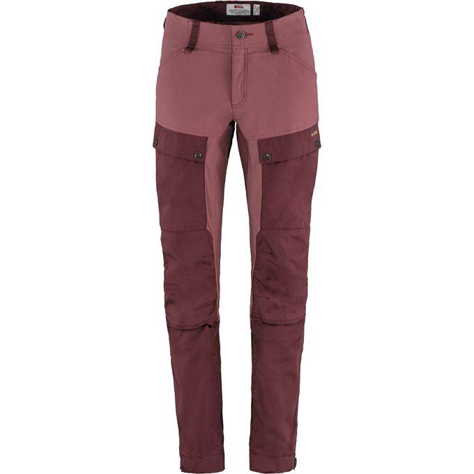 Fjällräven Keb Trousers W Reg Trekking trousers Purple, Burgundy Women's