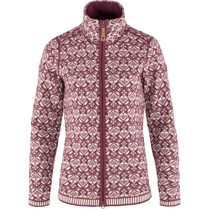 Fjällräven Snow Cardigan W Sweaters & knitwear Purple Women's