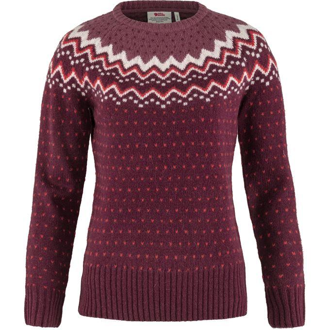 Fjällräven Övik Knit Sweater W Sweaters & knitwear Burgundy, Pink, Red Women's