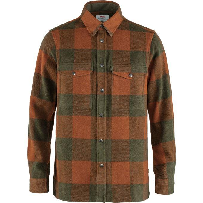 Fjällräven Canada Shirt M Shirts Brown, Dark green, Green, Orange Men's
