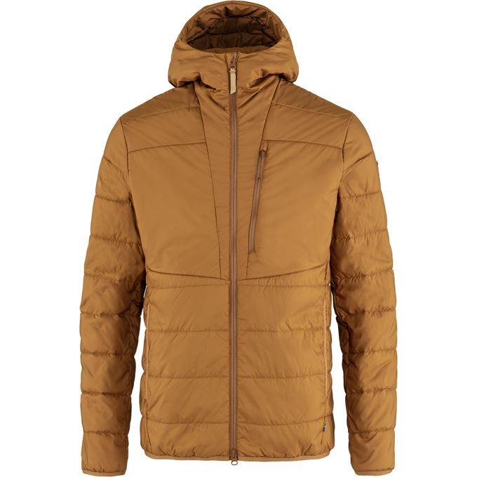 Fjällräven Keb Padded Hoodie M Trekking jackets Brown, Orange Men's