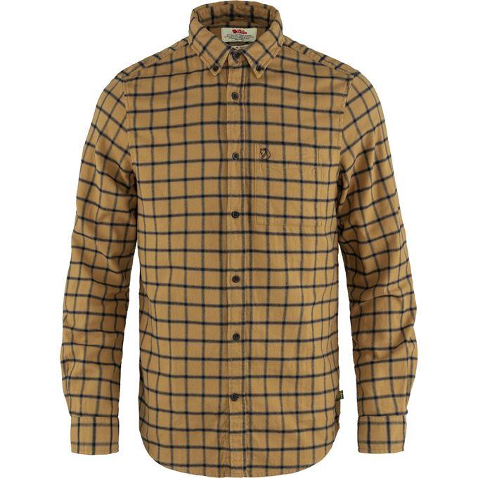 Fjällräven Övik Flannel Shirt M Shirts Brown, Blue Men's