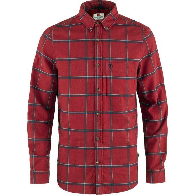 Fjällräven Övik Comfort Flannel Shirt M Blue, Red Men's
