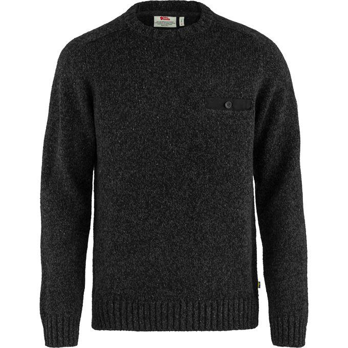 Fjällräven Lada Round-neck Sweater M Sweaters & knitwear Black Men's