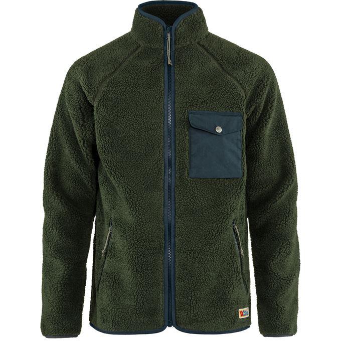 Fjällräven Vardag Pile Fleece M Fleeces Dark green, Green Men's