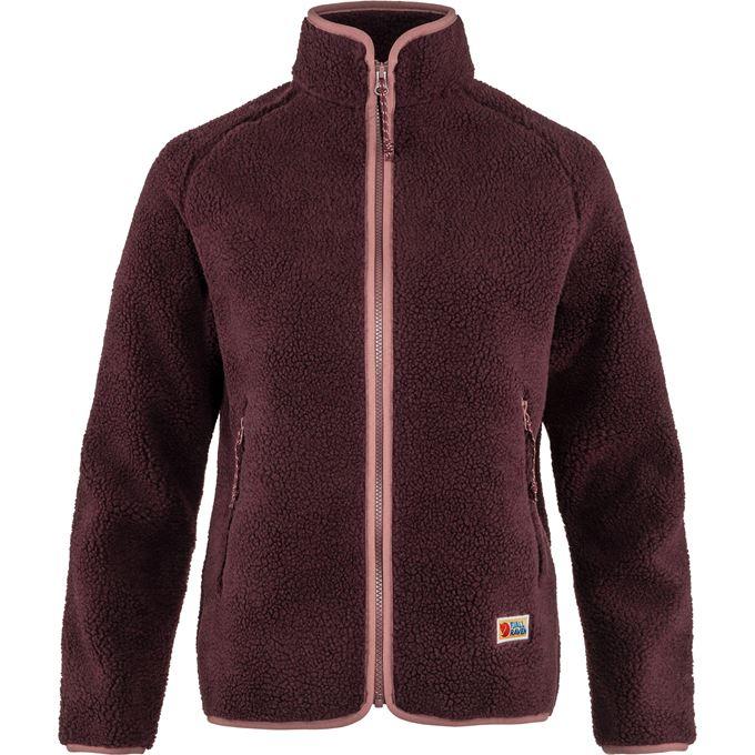 Fjällräven Vardag Pile Fleece W Fleeces Burgundy, Pink, Red Women's
