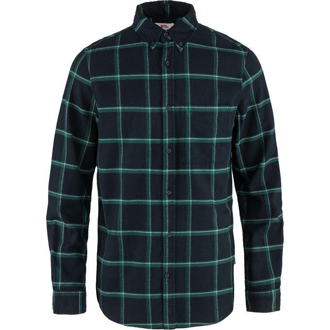 Fjällräven Övik Comfort Flannel Shirt M Blue, Dark green, Green Men's