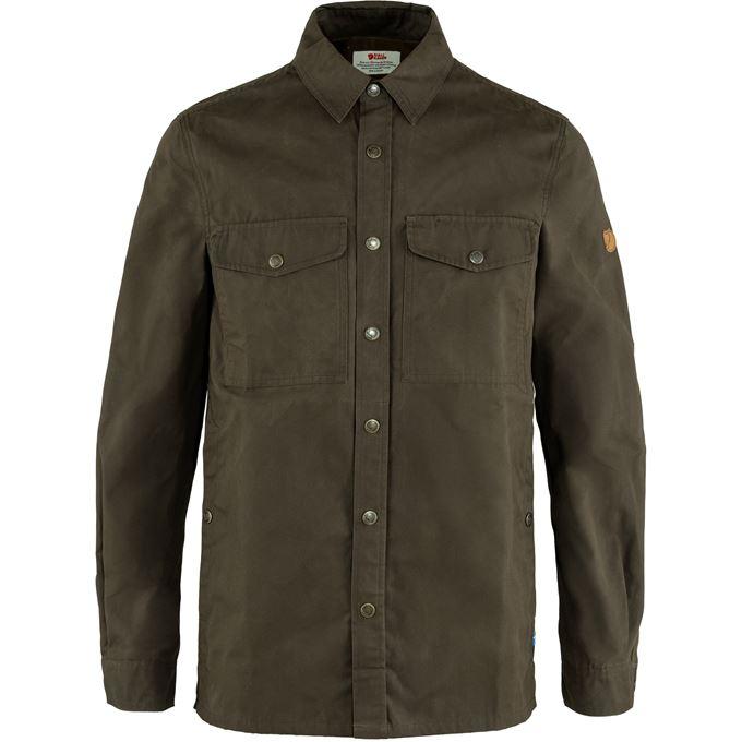Fjällräven Singi Overshirt M Shirts Dark green, Green Men's