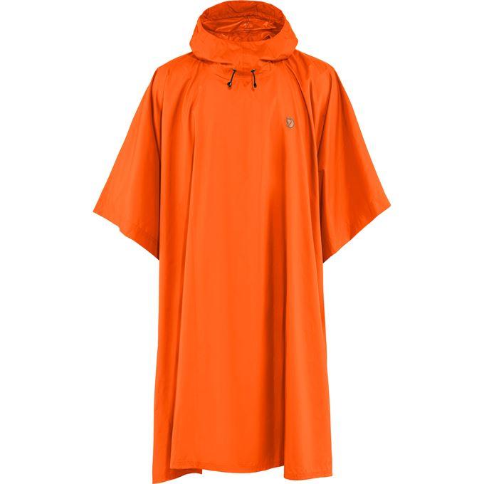 Fjällräven Poncho Shell jackets orange Unisex