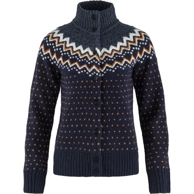 Fjällräven Övik Knit Cardigan W Sweaters & knitwear Blue Women's