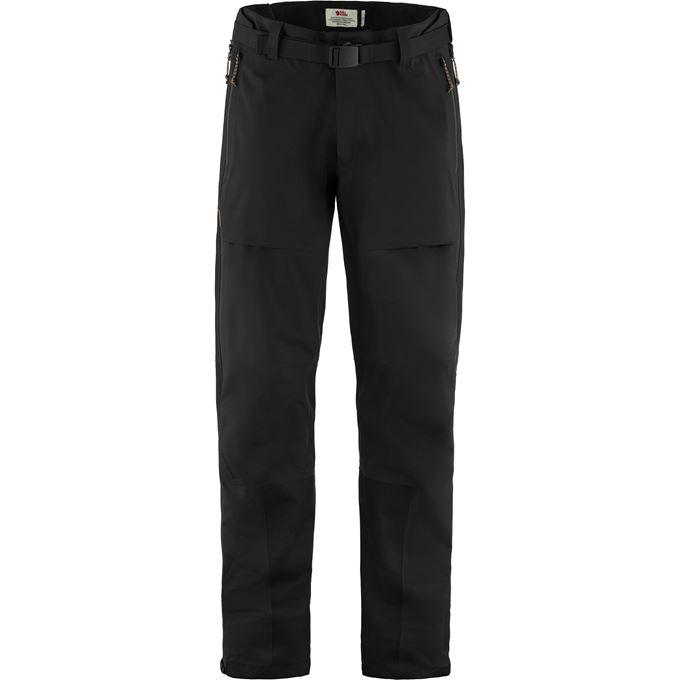 Fjällräven Keb Eco-Shell Trousers M Shell trousers black Men's