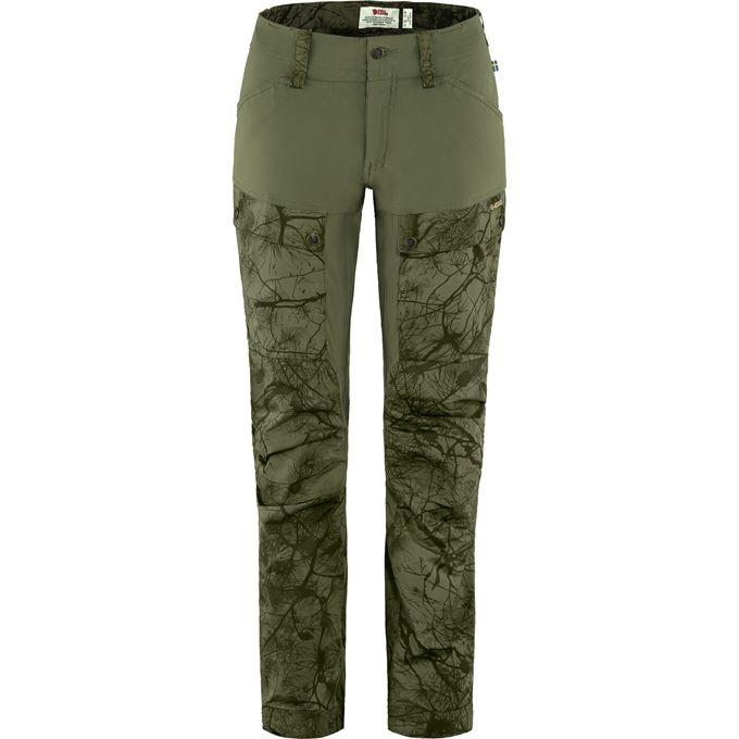 Fjällräven Keb Trousers W Reg Trekking trousers Dark green, Green, Dark green, Green Women's