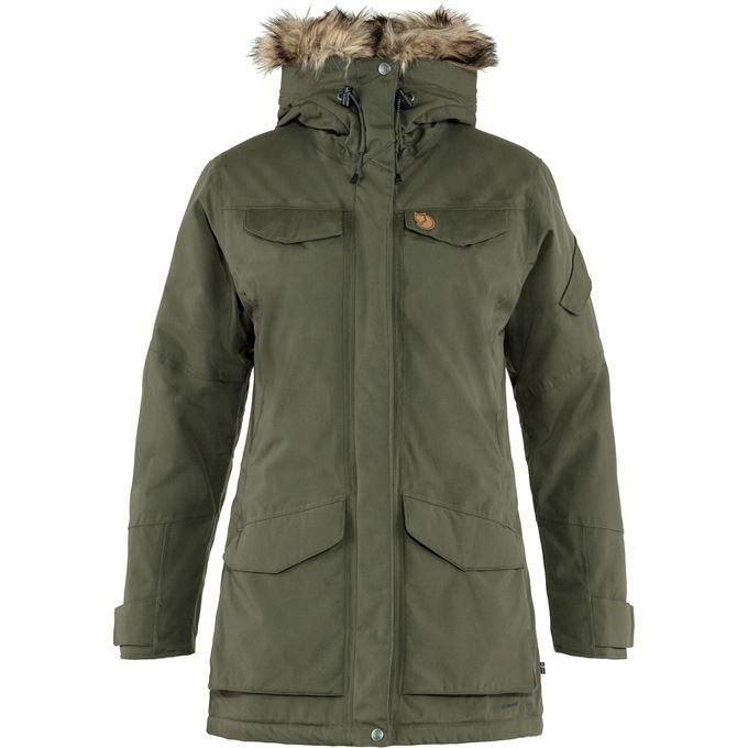 Fjällräven Nuuk Parka W Outdoor jackets Green Women's