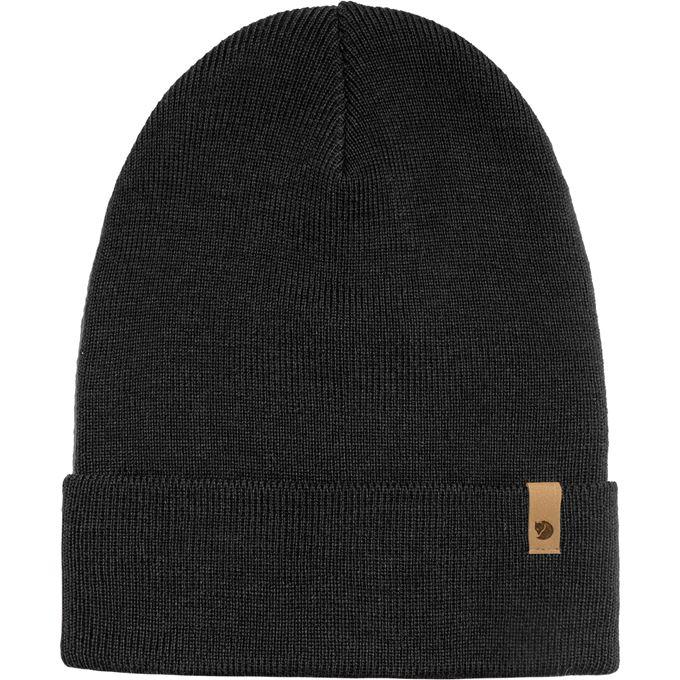 Fjällräven Classic Knit Hat Caps, hats & beanies Black Unisex