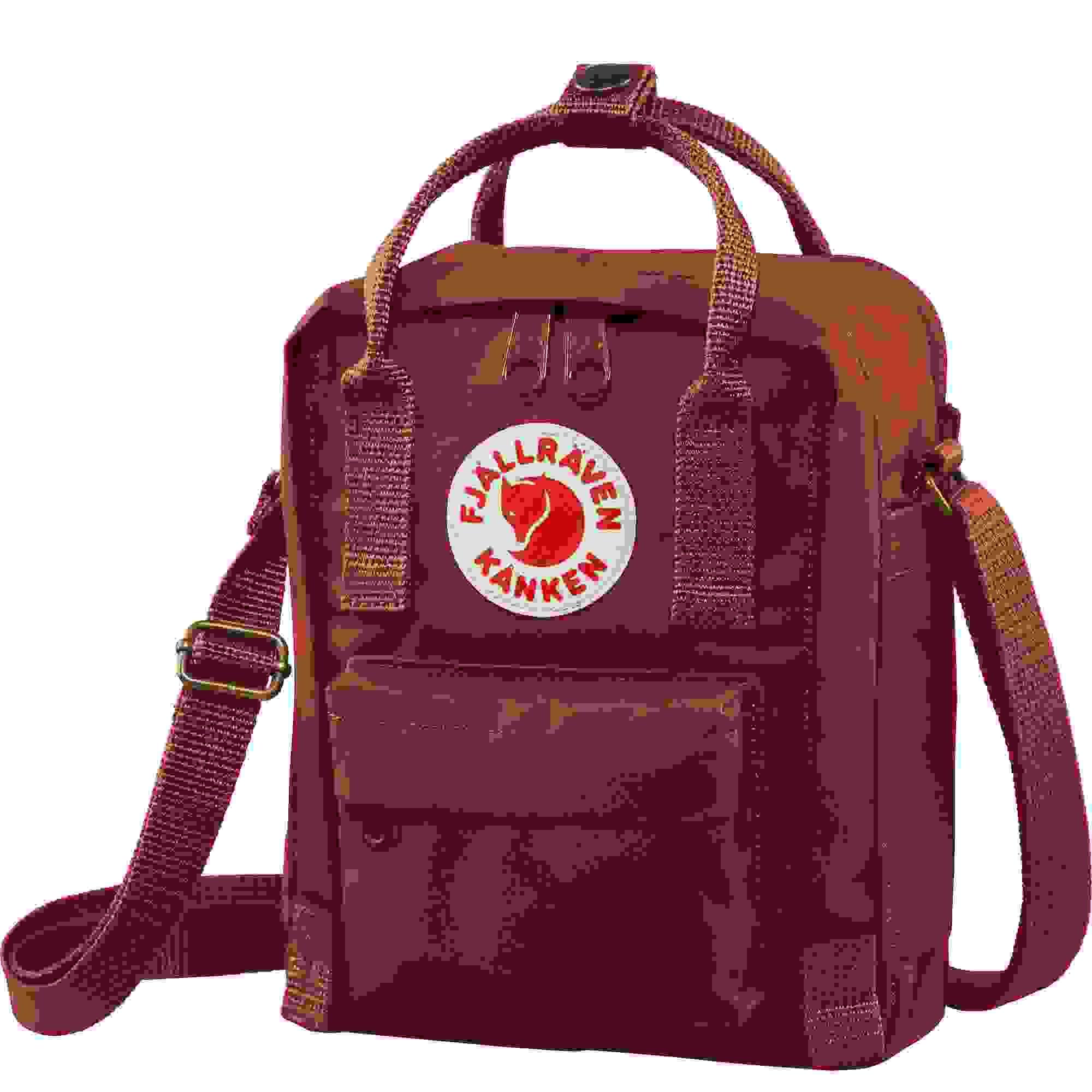 Black-Ox Red Fjallraven Kanken Sling Crossbody Shoulder Bag for Everyday Use and Travel
