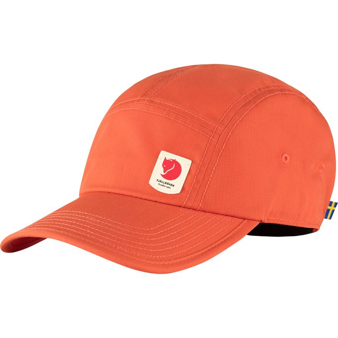 Fjällräven High Coast Lite Cap Caps, hats & beanies Orange, Red Unisex