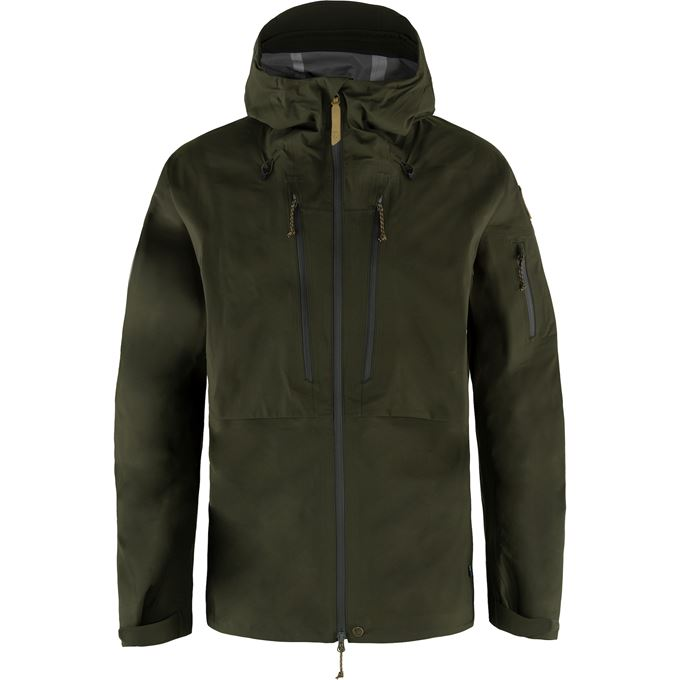 Fjällräven Keb Eco-Shell Jacket M Shell jackets dark green, green Men's