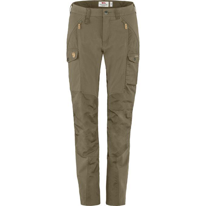 Fjällräven Nikka Trousers W Trekking trousers green, beige Women's