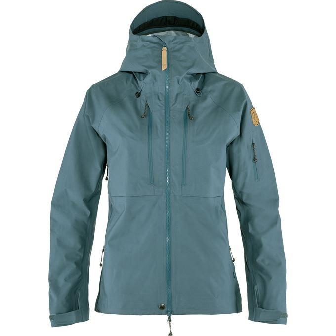 Fjällräven Keb Eco-Shell Jacket W Shell jackets grey, blue Women's