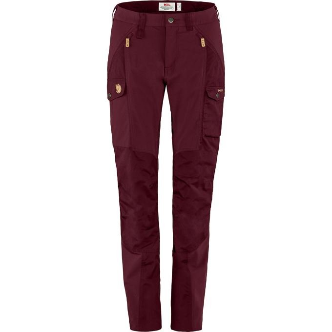 Fjällräven Nikka Trousers Curved W Trekking trousers burgundy, red Women's