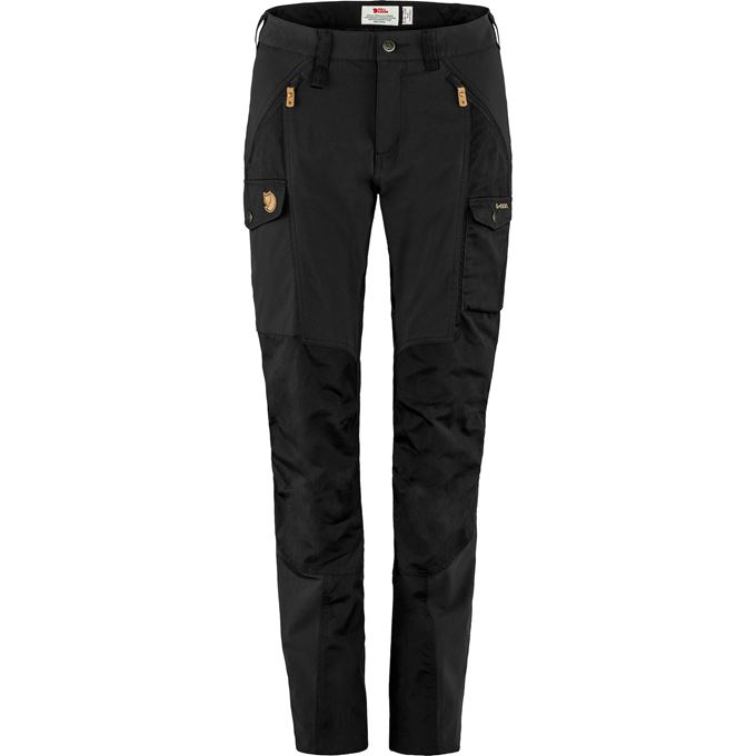 Fjällräven Nikka Trousers Curved W Trekking trousers black Women's