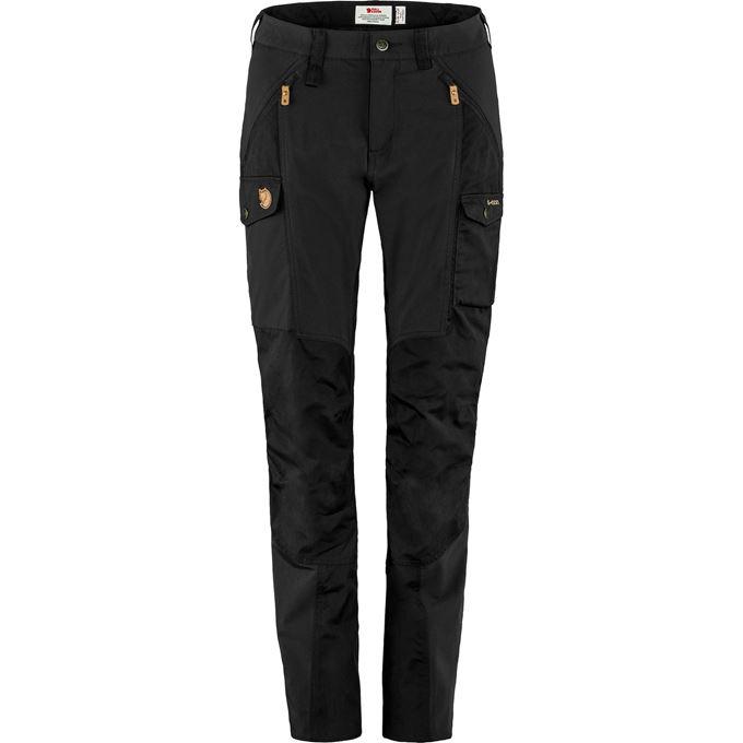 Fjällräven Nikka Trousers Curved W Trekking trousers black Women's