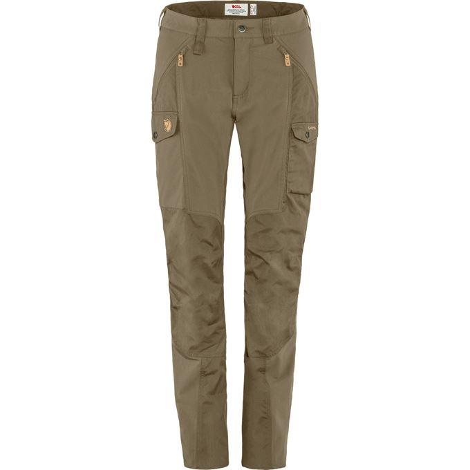 Fjällräven Nikka Trousers Curved W Trekking trousers green, beige Women's