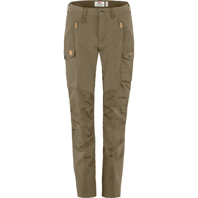 Fjällräven Nikka Trousers Curved W Trekking trousers green, beige Women's