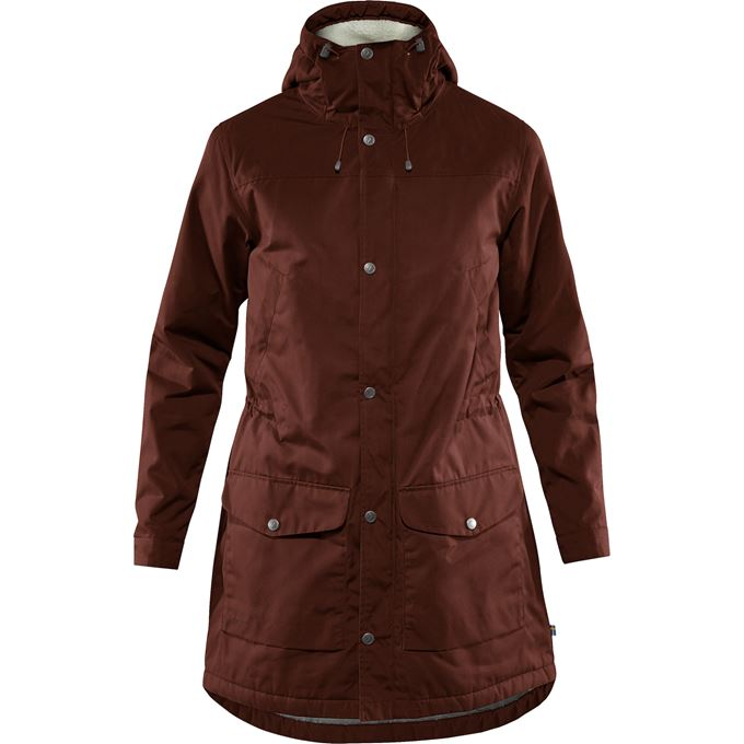Fjällräven Greenland Winter Parka W Outdoor jackets burgundy, red Women's