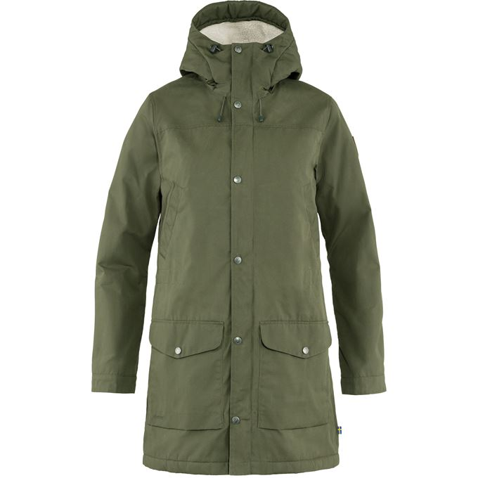 Fjällräven Greenland Winter Parka W Outdoor jackets green Women's
