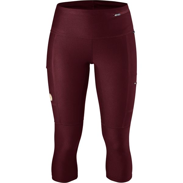 Fjällräven Abisko Trekking Tights 3/4 W Trekking tights burgundy Women's